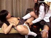 hot girl in black stocking getting hot wax.