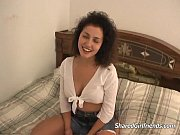 cute brunette being fucked hard on.