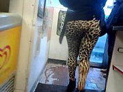 candid booty in leopard leggings