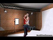 Horny 3D cartoon shemale fucking a punk rocker hard