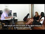 redhead pussy licked while mouth fucked on casting