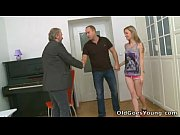 Maya&#039_s tiny tits get bounced when old dude fucked her