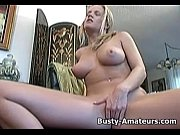 busty lisa playing her pussy with.