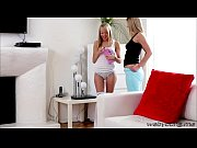 beautiful hot teens scarlet and sierra play dildo.