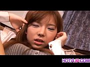 Serina Hayakawa JApanese teen spreads long legs to expose her hairy pussy for some intense vibrator