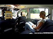 czech blonde rides taxi driver in.