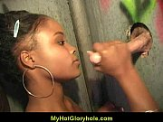 gloryhole blowjob - sexy girl sucking.