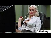 sex tape in office with round big boobs.