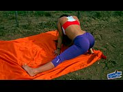 Picture Amazing Body Young Girl 18+ Stretching. Big...