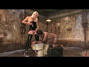 blonde mistress in leather femdom sex