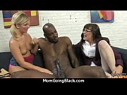 milf with wet pussy gets railed by black.