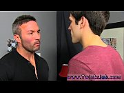 Amazing gay scene He gets on his knees and deepthroats Brock&#039_s chisel