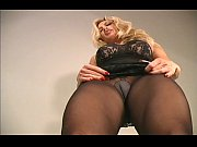 shaggy gash in taut pantyhose