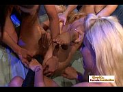Group of lesbian sluts drill each other with big fat dildos