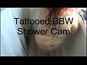 tattooed bbw shower cam free webcam hd on ehotcam.com