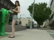walking in sandals showing you her sexy dirty feet
