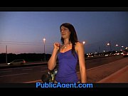 publicagent sexy brunette loves my charm.