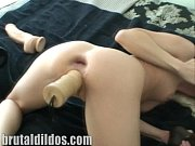 Jayda double penetrates her pussy and ass with huge dildos