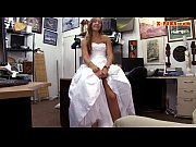 bride to be pawns her wedding dress and.