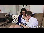 Nerdy teen with glasses gets nailed_8 92