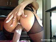 ����� � ������ �� ������ ������� � ��� �������; Whore in stockings on Palace which it cums