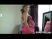 Pregnant babe changing her dress