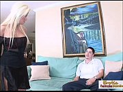 horny blonde milf fucks her boyfriends friend on.