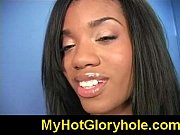 Black chick learn gloryhole blowjob 18