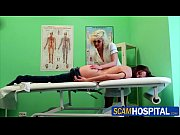 Pretty hot patient gets a hot massage in the examining table by the pervy nurse