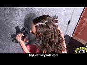 Ebony Hottie Milking Cocks in the Gloryhole 15