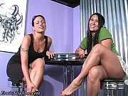 latina shoe dangling and joi