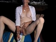 Granny Masturbates to Orgasm with Vibrator