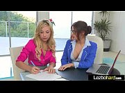 Lesbians (Carmen Caliente &amp_ Vanessa Veracruz) Play On Cam With Their Hot Bodies clip-09