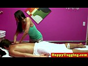 busty asian masseuse tugging cock