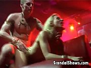 blonde striper enjoys sucking a cock