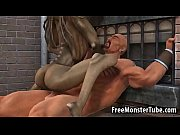 3D cartoon alien babe riding a stud&#039_s cock outdoors