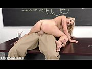 hot blonde schoolgirl sucks and fucks.