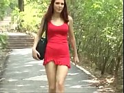 6969cams.com - Hot Teen in Red Dress Fucked Outdoors