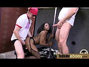 Naughty black wife gang banged by white friends 16