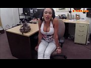 Big boobs latina pounded in the backroom to earn more money