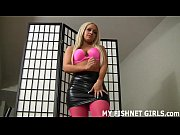 Check out my hot new fishnets and garter belt JOI