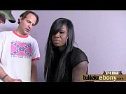 ebony honey in group interracial sex.