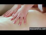 sensual lesbian massage leads to orgasm.