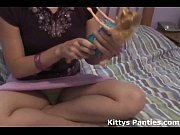 nubile 18yo kitty playing with her.