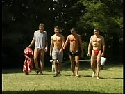 amazing outdoor orgy as group of shameless boys.