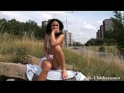 Dark milf in public nudity and daring outdoor masturbation of flashing mum by a