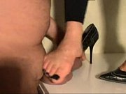 Indian wife trampling her husband's cock with her high heeled stilletos