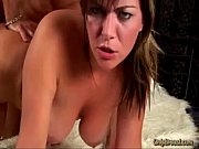 Big breasted babe gets her tits oiled up and sucks and fucks