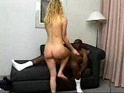 Lost blonde fucks black guy