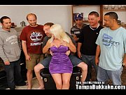 horny blonde milf slag gang bang.